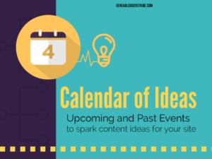 Calendar of Ideas Graphic