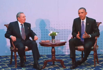1st meeting of the USA and Cuba