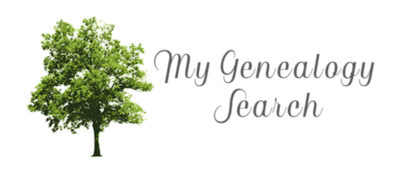 My Genealogy Search blog header image