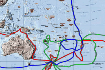 Routes of James Cook