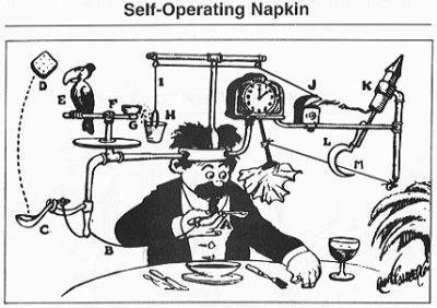 Rube Goldberg's Self-operating napking