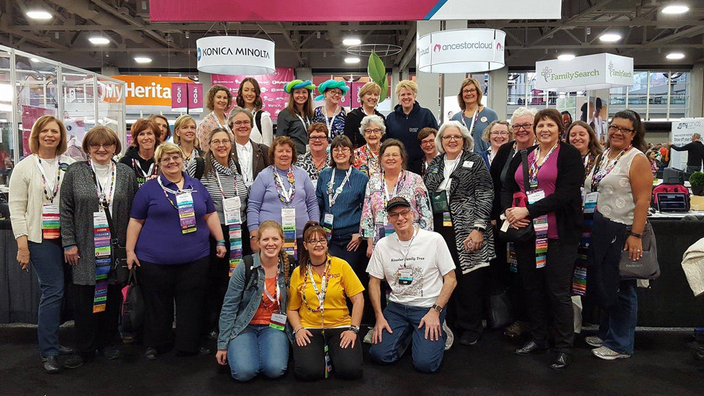 Some of the GeneaBloggers attending RootsTech in 2017