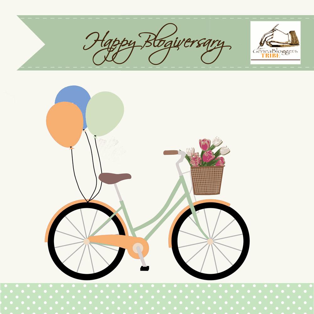 Happy Blogivesary graphic