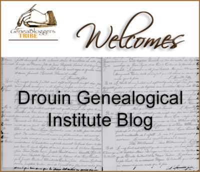 Drouin Genealogical Institute Blog welcome graphic