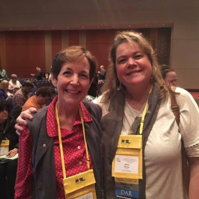 Laura Prescott and Jenny Hawran at NERGC in 2017