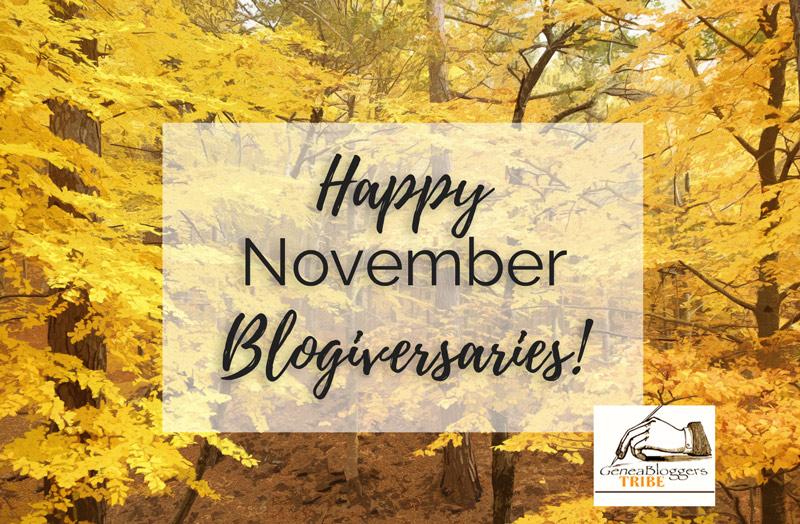 Happy November Blogiversaries Geneabloggers