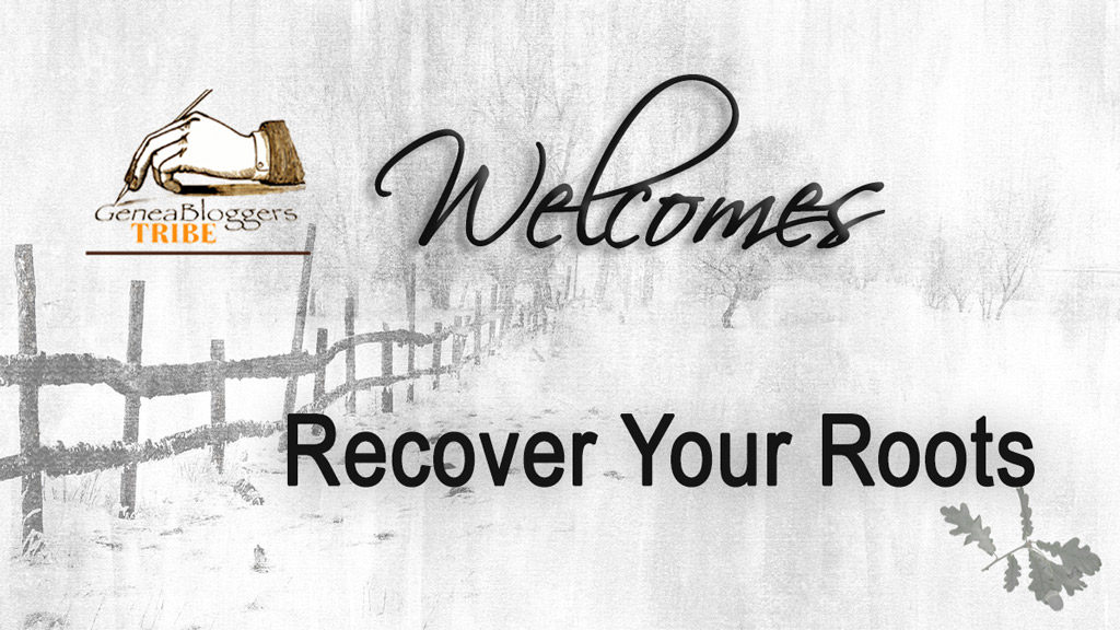 Recover Your Roots Welcome Post
