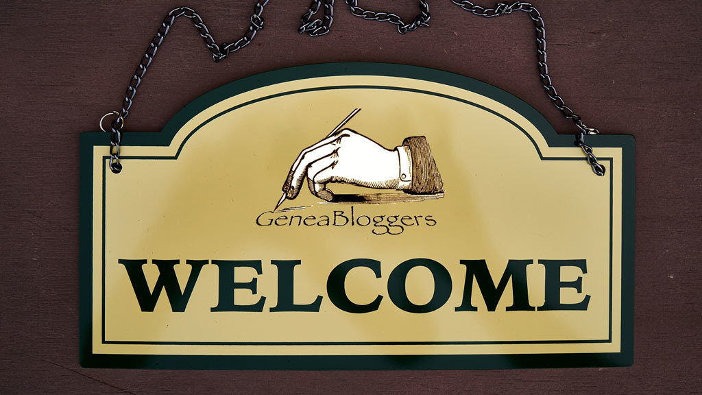 GeneaBloggers Welcome Sign