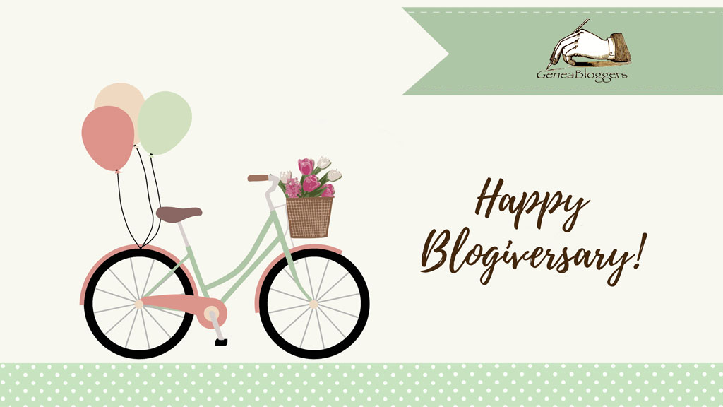 Happy Blogiversary to Sassy Jane Genealogy!