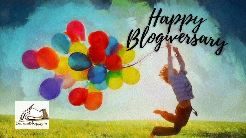Happy Blogiversary from Geneabloggers