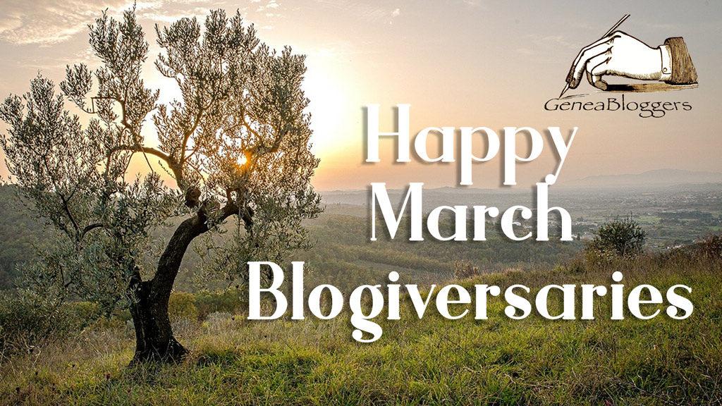 Happy March 2020 Blogiversaries