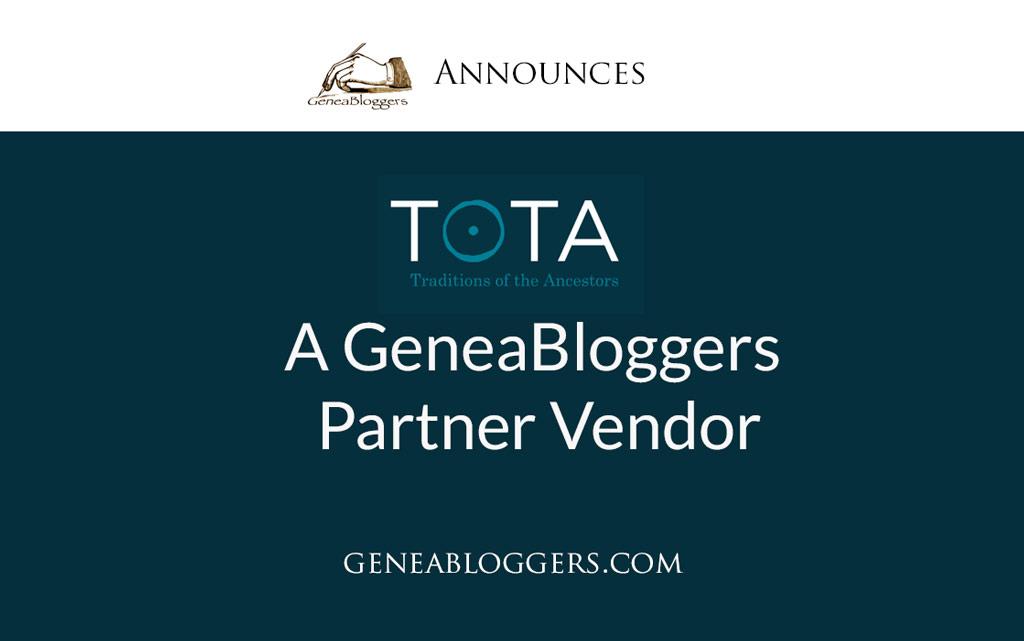 TOTA a GeneaBloggers Partner Vendor