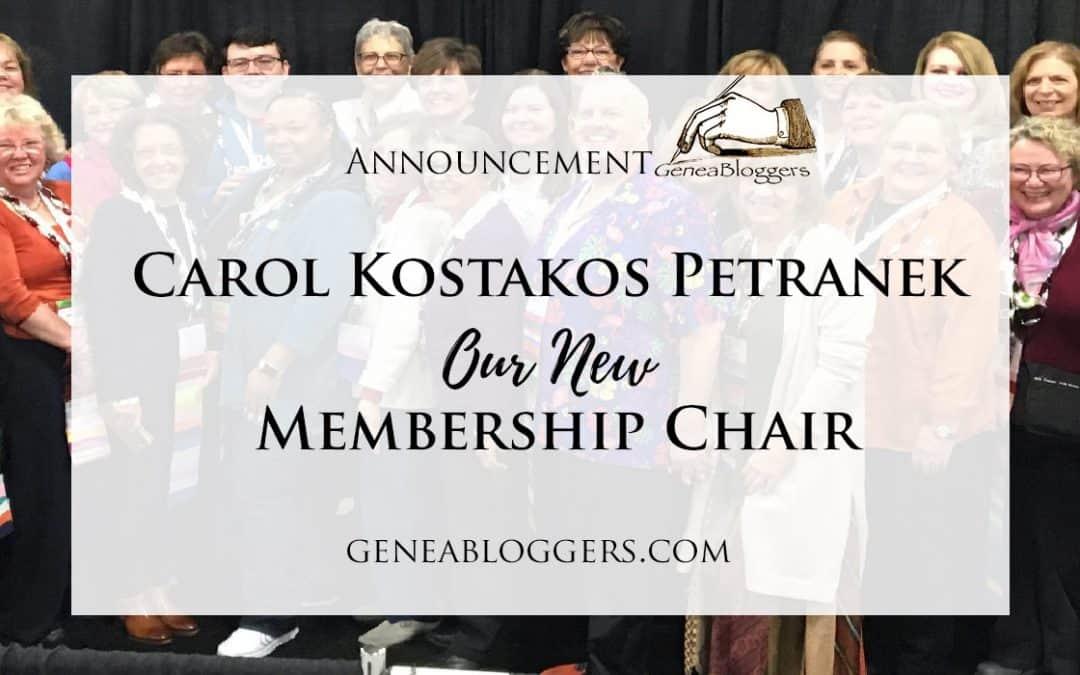 Carol Kostakos Petranek New GeneaBloggers Membership Chair