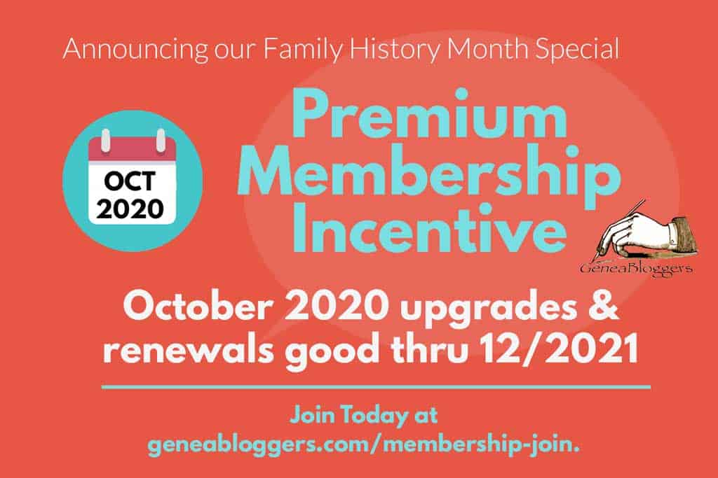 Family History Month Premium Membership Incentive October 2020