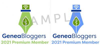Samples of GeneaBloggers Premium Badges