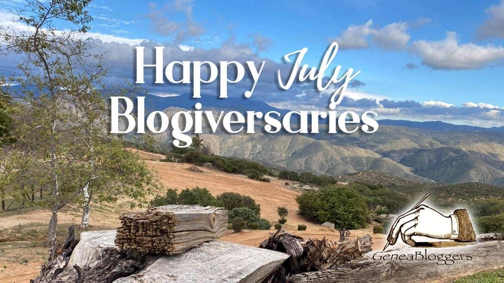 Happy July 2021 Blogiversaries