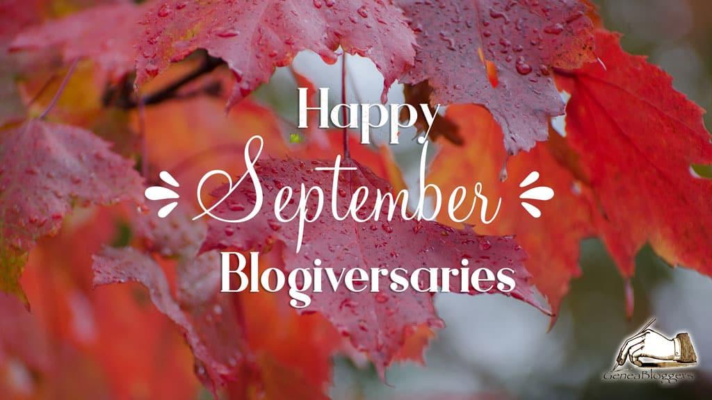 Happy September 2021 Blogiversaries